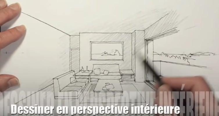 comment dessiner une piece perspective